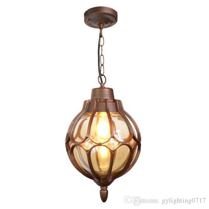 Europe Style Outdoor Light Vintage Pathway Pendant Lamps Exterior