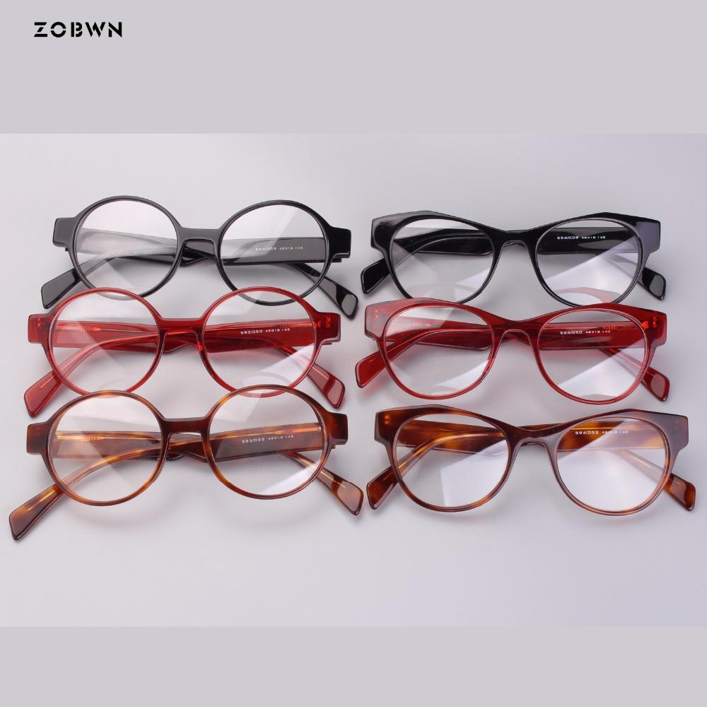 1a38f32cd3c 2019 Fashion Round Lady Eyeglasses For Reading Glasses Men Women Readers  Small Ultra Light Eyeglasses Hyperopia Acetate Glasses From Zaonoodle