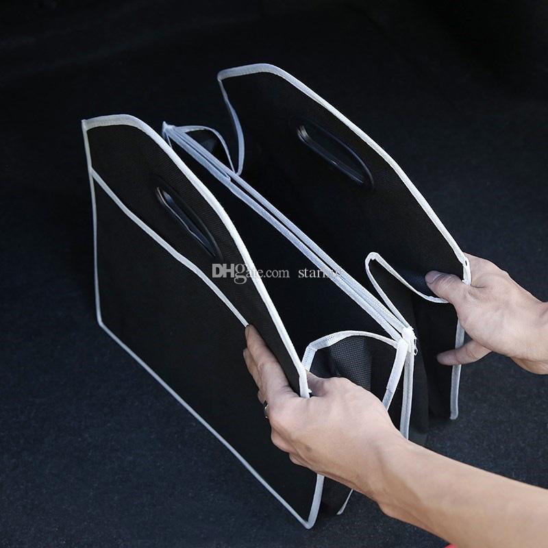 Ящики для хранения Складной Автомобильный Организатор Авто Багажник Для Хранения Игрушек Еда, Контейнеры Для Хранения Продуктов Сумки Авто Интерьер Аксессуары Дело WX9-421