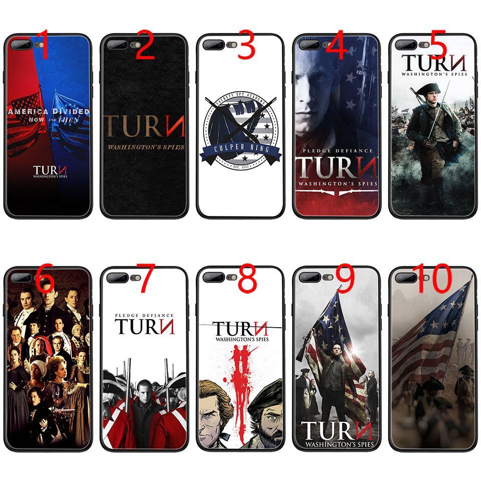 f767af17eb3 Fundas Personalizadas Para Moviles Gire La Caja Del Teléfono TPU Negro  Suave Spies De Washington Para IPhone XS Max. Protectores Para Celular Por  E_emal, ...