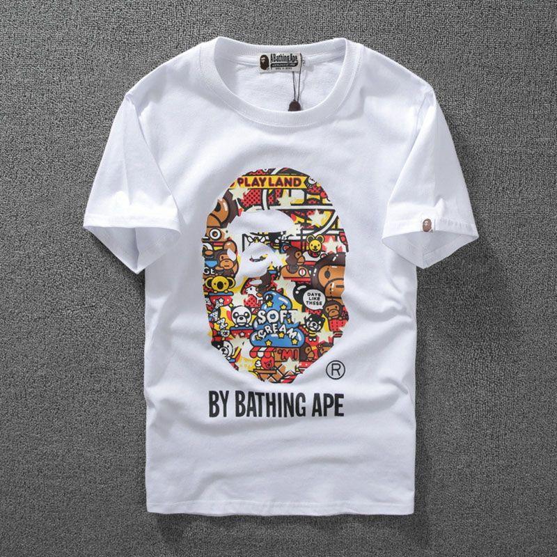 8d145afa HIGH Quality Monkey Luminous Print Short Sleeve Men S T -Shirt Top ...