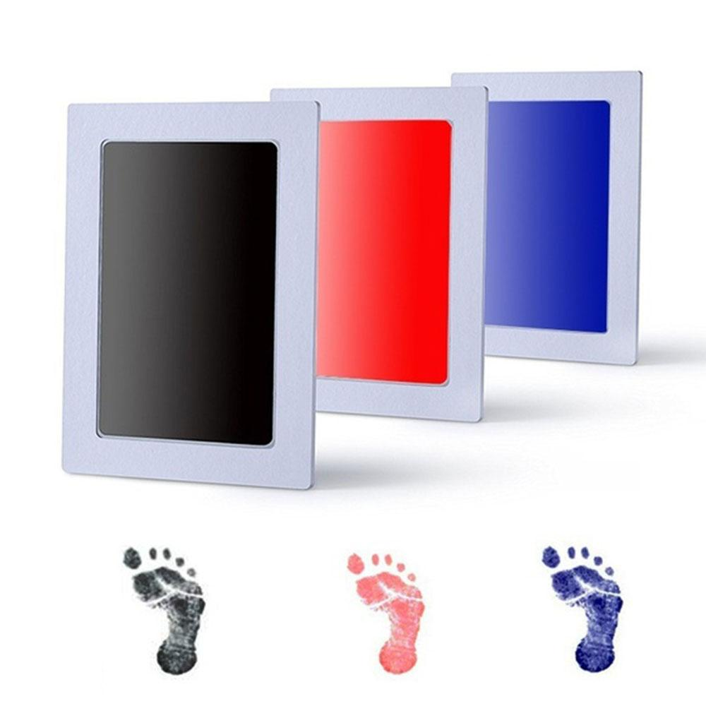 Baby Handprint Footprint Non-toxic Newborn Imprint Hand Inkpad Watermark Infant Souvenirs Toys Gift 6 Colors Available Baby Souvenirs