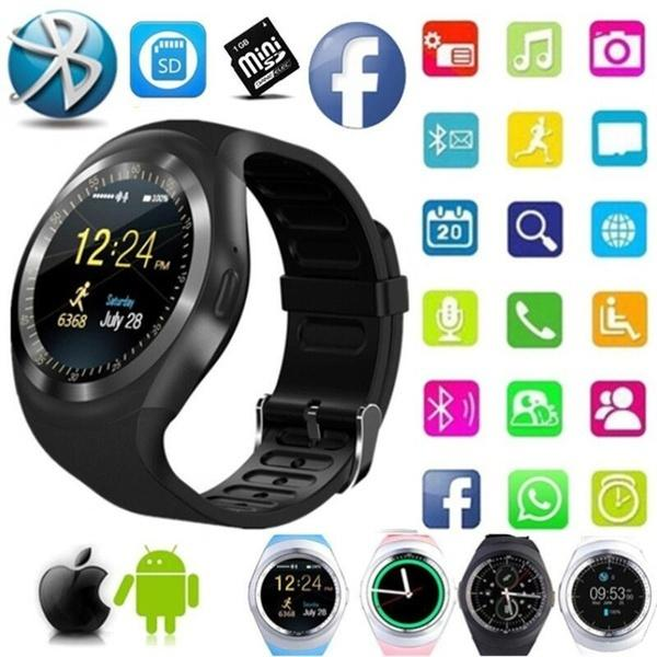 9b4eedc88 2018 new smart watch round support Bluetooth 3.0 men's and women's business  smart watch, suitable for IOS Android
