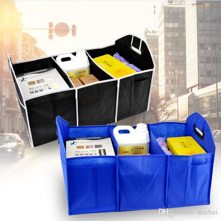 Caixas de armazenamento Dobrável Organizador Do Carro Auto Caixas De Armazenamento De Malas Brinquedos Recipiente De Armazenamento De Alimentos Sacos de Acessórios Auto Interior Caso WX9-421