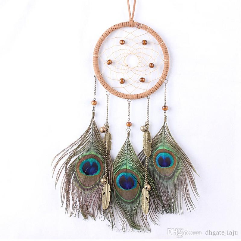 Circular Dream With Peacock Feather Wall Hanging Decoration Ornament H Home Garden Garden Decor Thecorner Mx