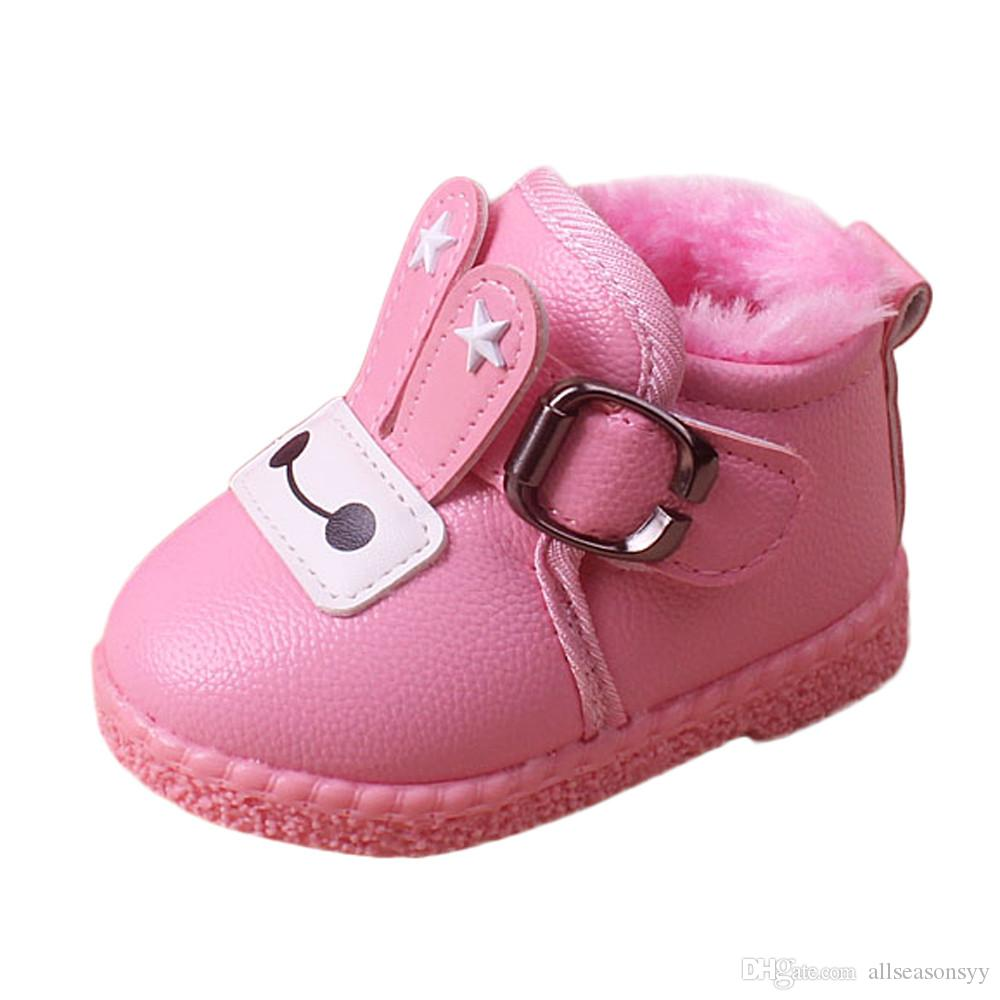 acb8a634be2f Winter Baby Boys Girls Shoes Infant Toddler Girls Boys Cartoon ...