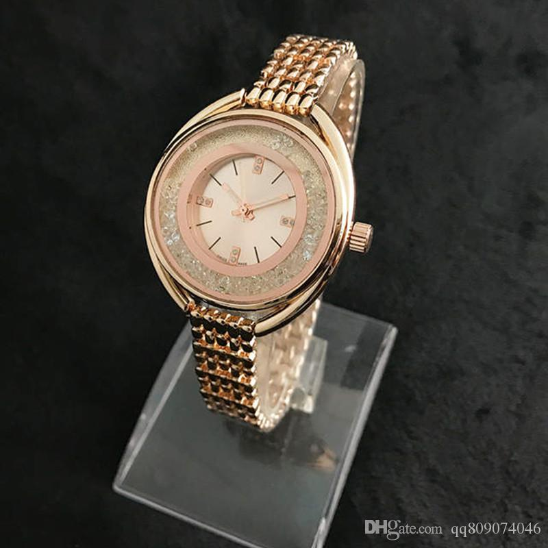 5ee7e2a3fd0e Relogio Diamond Womens Watches Top Brand Ultra Thin 10mm Luxury Fashion  Ladies Watch Rose Gold Bangle Bracelet Crystal Clock Gift For Girl Online  Watches ...