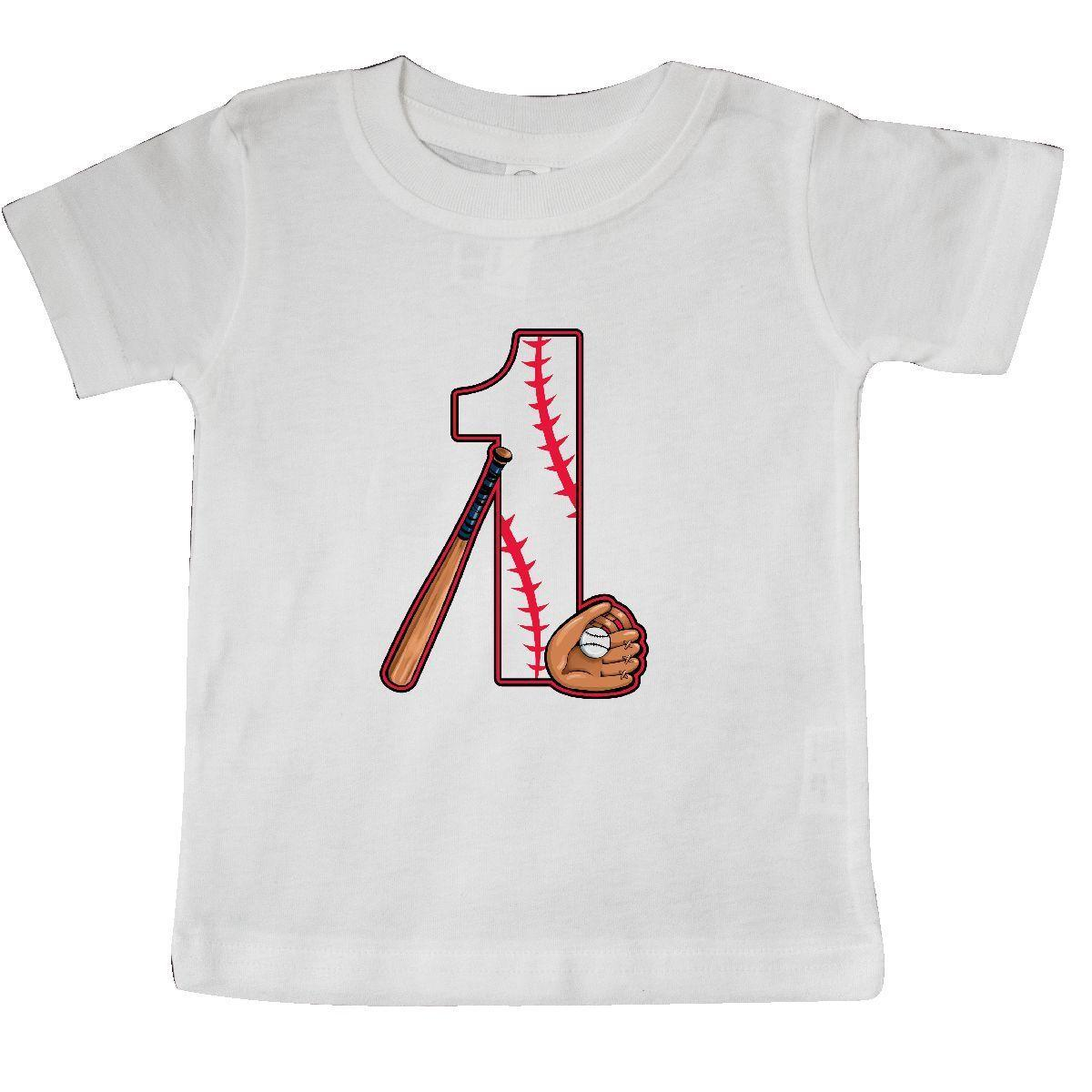 Inktastic Baseball First Birthday One Year Old Baby T Shirt Birthdays 1st 1 Bat Funny Unisex Casual Tee Gift Cool Shirts Designs Web From