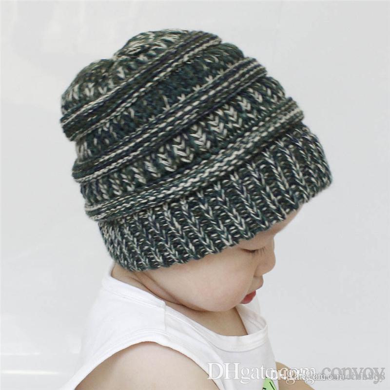 bd94f7ff31b New Baby Hats Winter Warm Beanie Crochet Beanies Outdoor Hat Winter ...