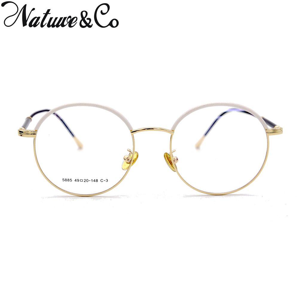 fa970887c3 Natuwe Co Round Retro Eyeglasses Vintage Clear Lens Glasses Italy Design  49-46-20-148 Mm Eyewear Frames Cheap Eyewear Frames Natuwe Co Round Retro  ...