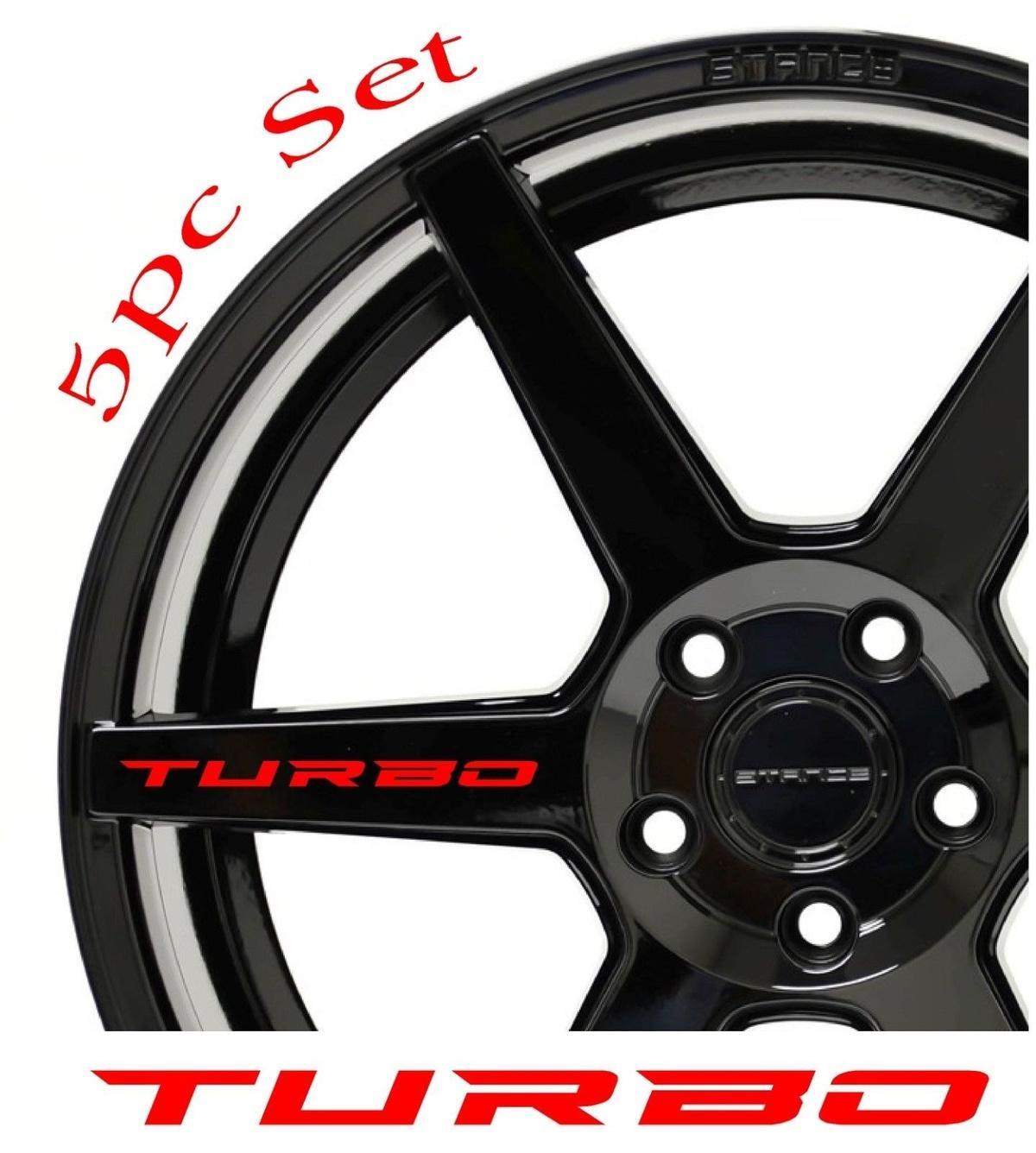 2019 For X8 Turbo Decal Sticker Wheels Rims Racing Sport Car Sticker