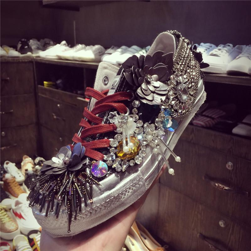 Bling Bling Women s Princess Party Casual Shoes Rhinestone Shoes ... 5aff502c0615