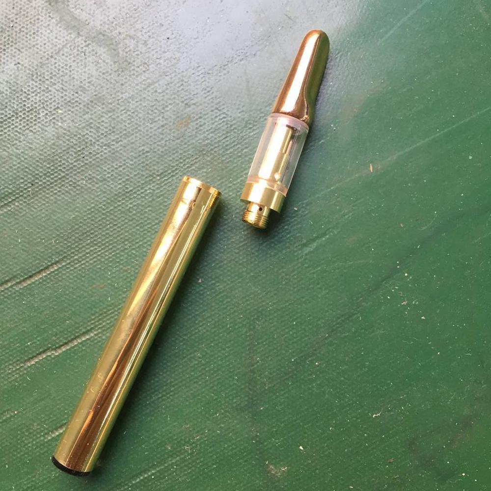 Cartuchos de vidro da bobina de cerâmica de Ouro CCELL bateria 350 mah caneta vape kit vaporizador caneta cartuchos de óleo de cera de espessura vapor e mod cig starter kits
