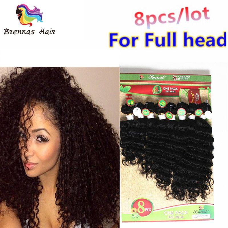 Virgin Remy Human Hair Extensions  Pack Hair Weft Ombre Natural Black Color  Bundles for African American Women Eu Uk Human Hair Bundles Deep Curly Hair  ... bbcb89faa0
