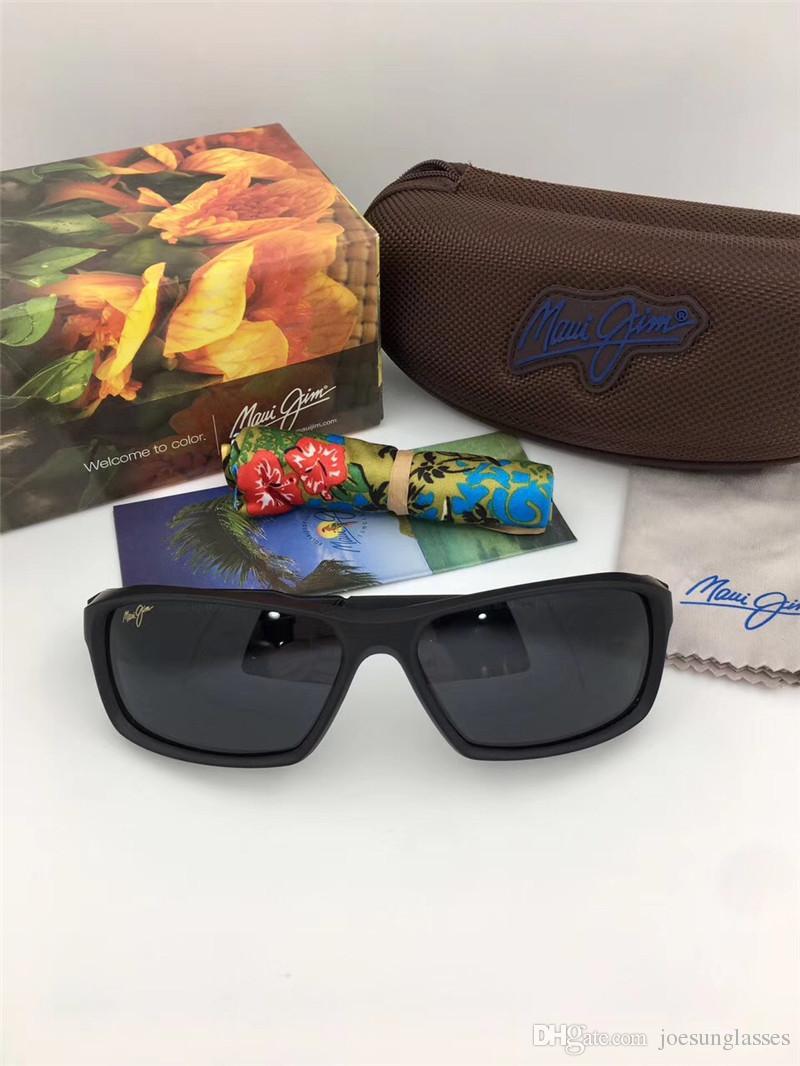 b0f602d4cf62 Classic Men Designer Sunglasses Mauijim MJ-412 Square Frame Ultra ...