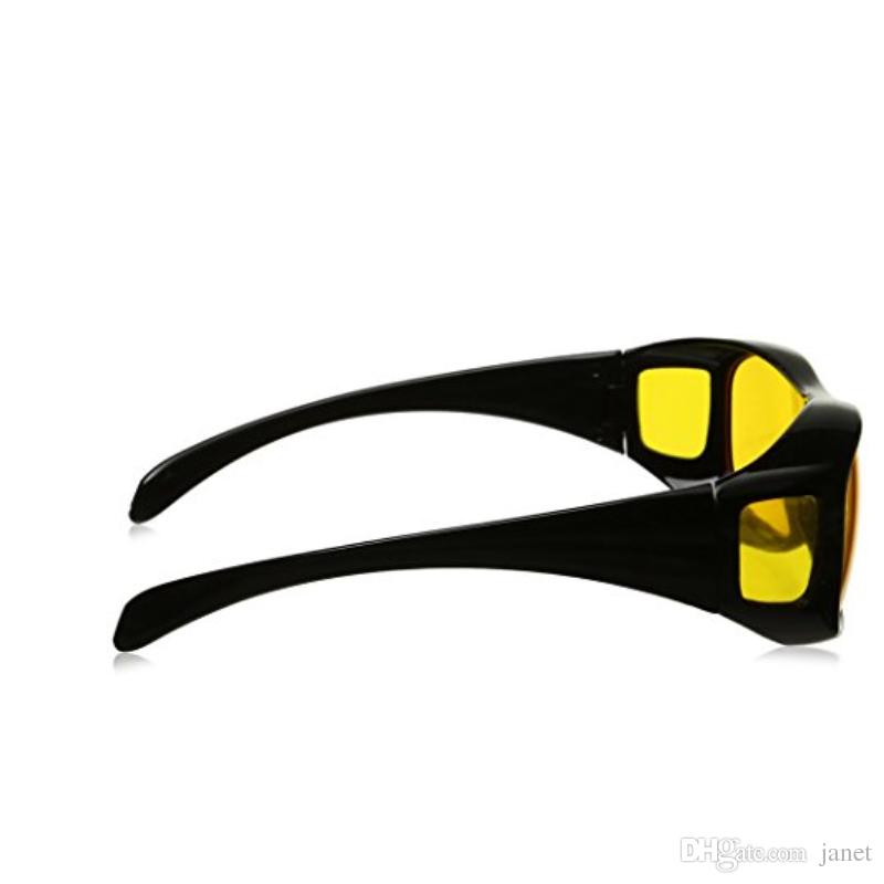 HD Night Vision Driving Sunglasses Yellow Lens Over Wrap Glasses Dark Driving Protective Anti Glare Outdoor Eyewear