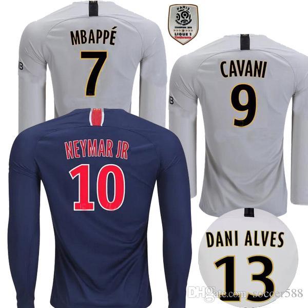 2019 Long Sleeve MBAPPE PSG Soccer Jersey 2018 2019 Paris CAVANI Football  Shirt DI MARIA PASTORE VERRATTI  13 DANI ALVES Maillot De Foot From  Soccer588 9135e8262bdcd