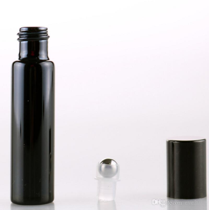 스테인레스 스틸 롤러 공 에센셜 오일 항아리 LX1217 10 ml 상류층 골드 / 실버 UV 코팅 유리 롤
