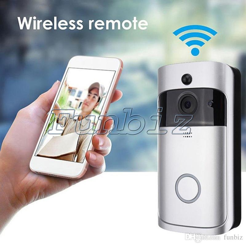 Wifi Video Doorbell Outdoor Battery Camera Pir Night Vision Wireless ...