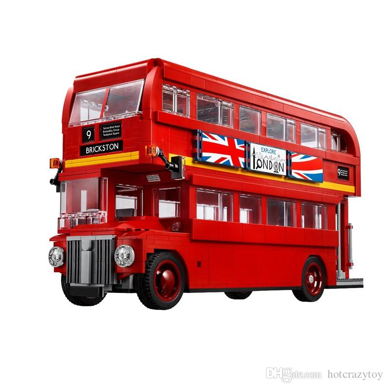 The London Bus Mini Bricks Technic Series Learning Building Blocks Toys For Children Creator Expert vehicle toys