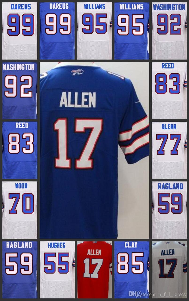 25c916cca 2019 Buffalo Men Woman Youth Bills Jersey  17 Josh Allen 85 Charles Clay 77  Cordy Glenn 55 Jerry Hughes Embroidery Jerseys From Top jersey outlet 02