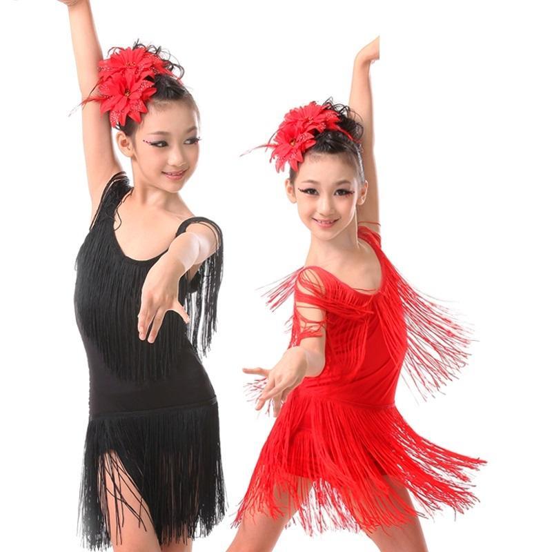 f2f729c9447 Compre Concurso De Baile De Salón Faldas Y Vestidos De Tango Niños Latinos  Bailan Salsa Niños Para Niñas Flecos Cha Cha Danza Niña A $25.47 Del  Beenling ...