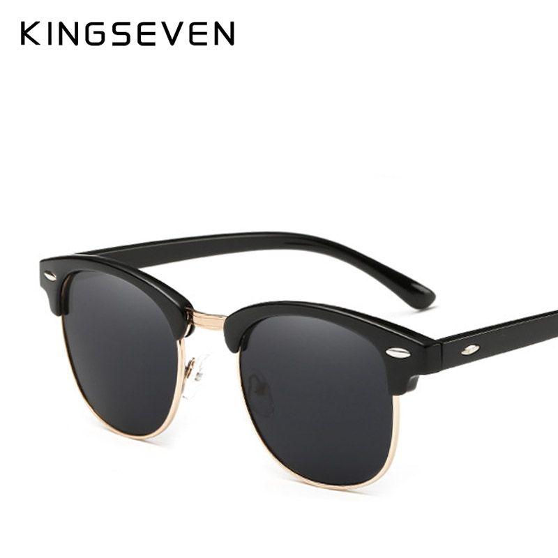 76d947f87986 KINGSEVEN Polarized Sunglasses Women Retro Metal Frame Sun Glasses ...