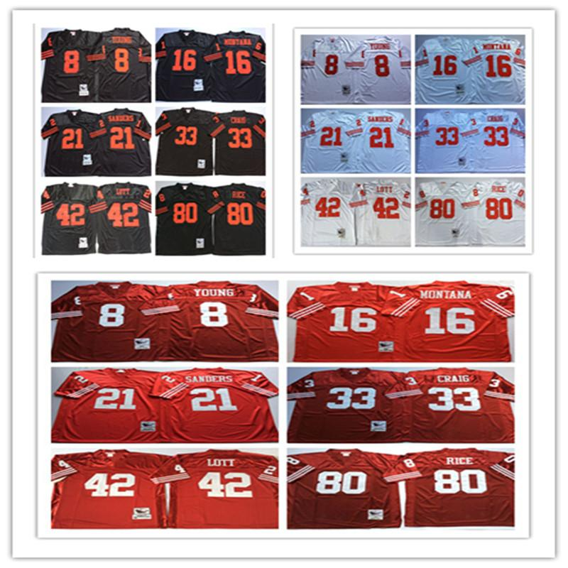 6789eef0b8e Throwbacks San Francisco 49ers Men Jerseys 8 Steve Young 16 Joe ...