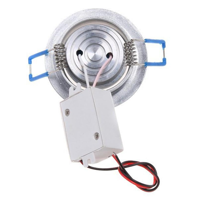 RGB Downlight 3 W LED Downlight Embutida LED RGB Downlight com driver AC85-265V e controle remoto IR de 24 teclas