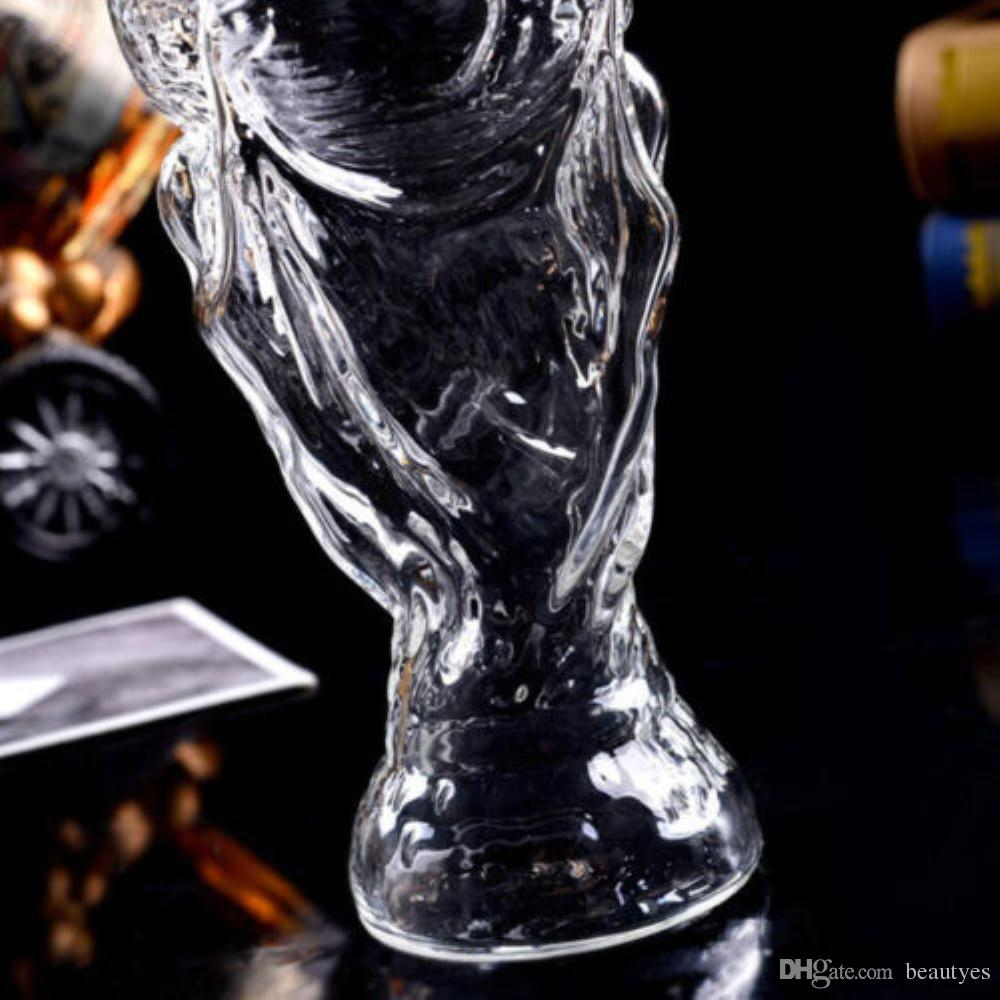 World Cup Design Crystal Glass Beer Drink Water Mug Bar World Cup Soccer Beer Stein Beer Mug Glass Trophy Shape Personalised Wine Glasses