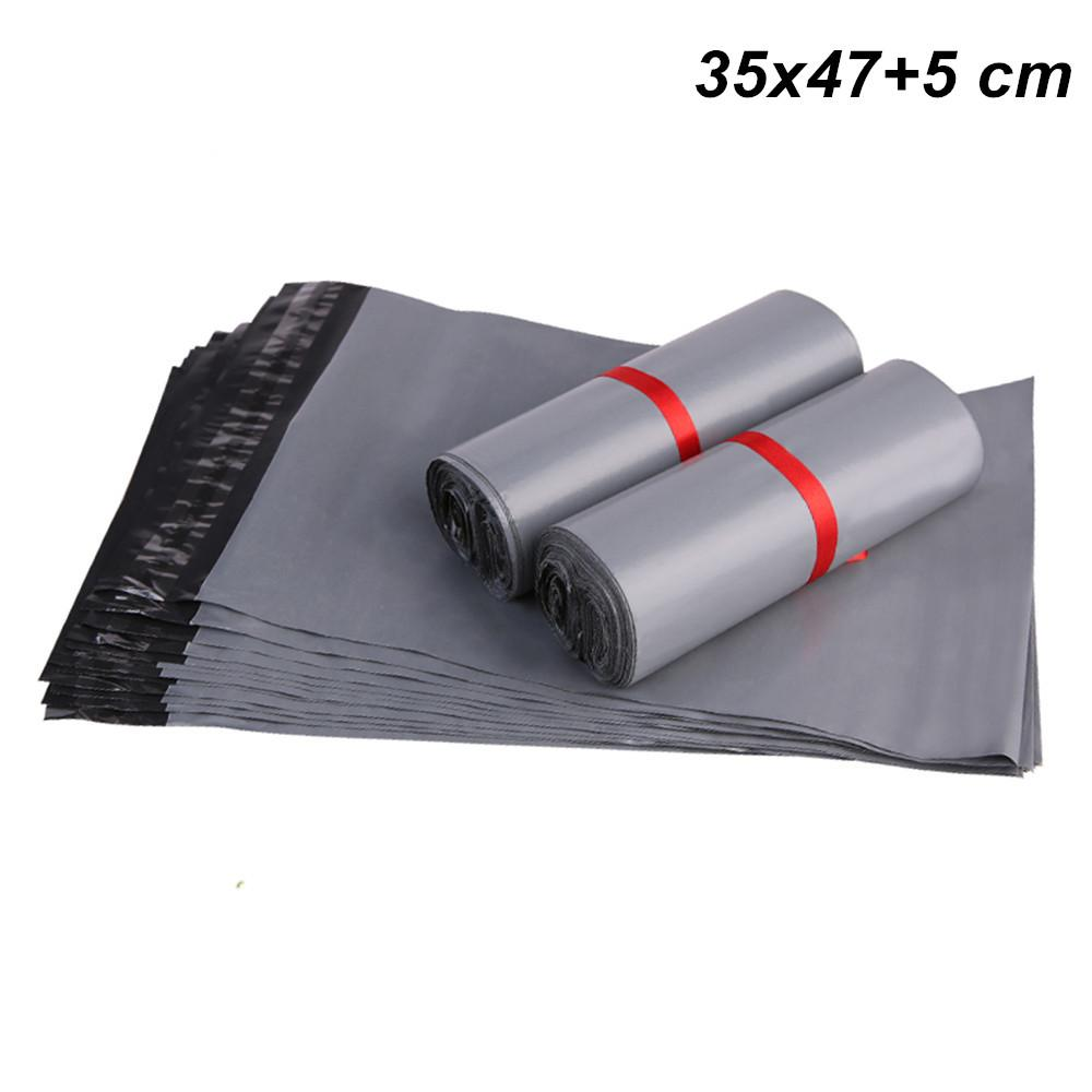 50 Pack Gray 35x47+5 cm Self Adhesive Post Postal Courier Mailing Bag  Self-Seal Express Shipping Poly Plastic Packaging Pouch Courier Bags