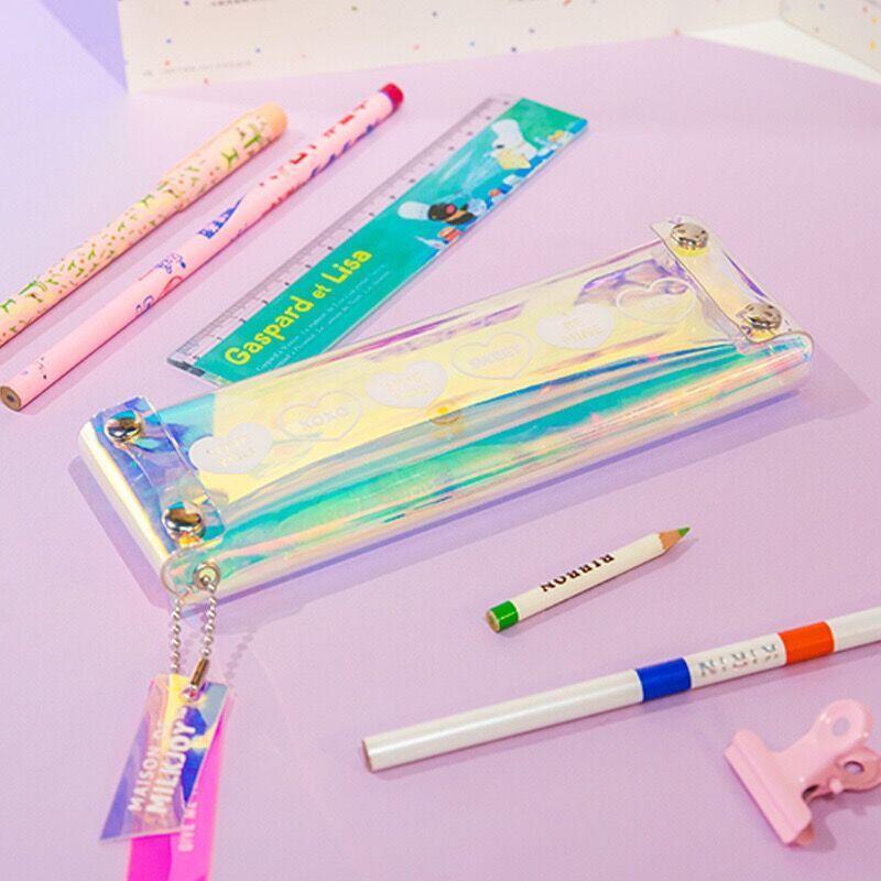 32534608a9 Acquista Laser Hologram Bentoy Portamonete Ragazze Matita Borsa Shinning  Make Up Caso Hasp Milkjoy Pen Box Trasparente Studente Moneta Unisex A  $39.51 Dal ...