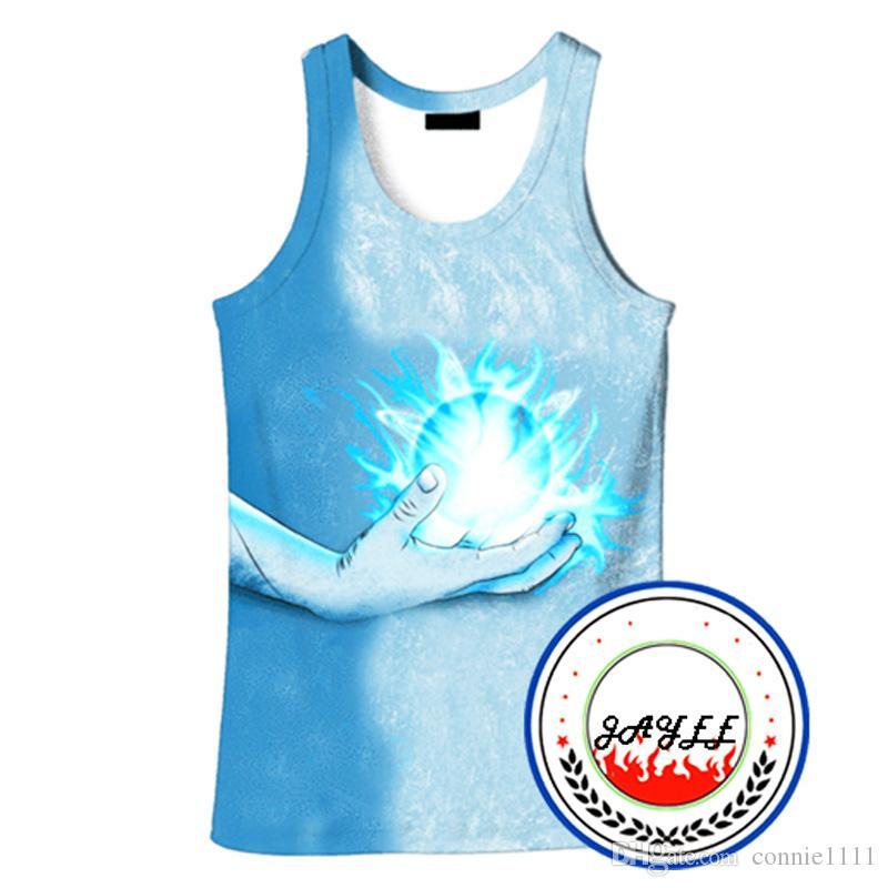 7f973876591 3D Tank Tops Naruto Vest Harajuku Sleeveless 3d T shirt Printing Unisex Men  Women Streetwears Summer Tops Cartoon Vests 12 Styles