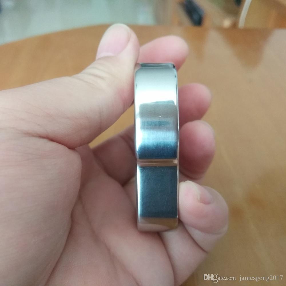 Acier inoxydable EDC handemade Knuckle Duster / Annulaire / punch / décapsuleur 62mm * 60mm * 14mm Miroir surface polie Traitement 140g / pc