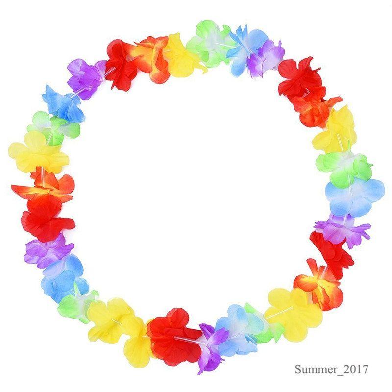 Neu kommen Partei liefert Seide hawaiische Blume Lei Garland Hawaii Kranz Cheerleading Produkte Hawaii Halskette
