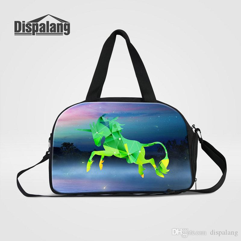 Unique Diamond Unicorn Design Travel Luggage Duffel Bags For Teenage Girls  Canvas Women Shoulder Messenger Weekend Bag Men Outdoor Sport Bag Weekend  Bags ... 1e36fe3e93