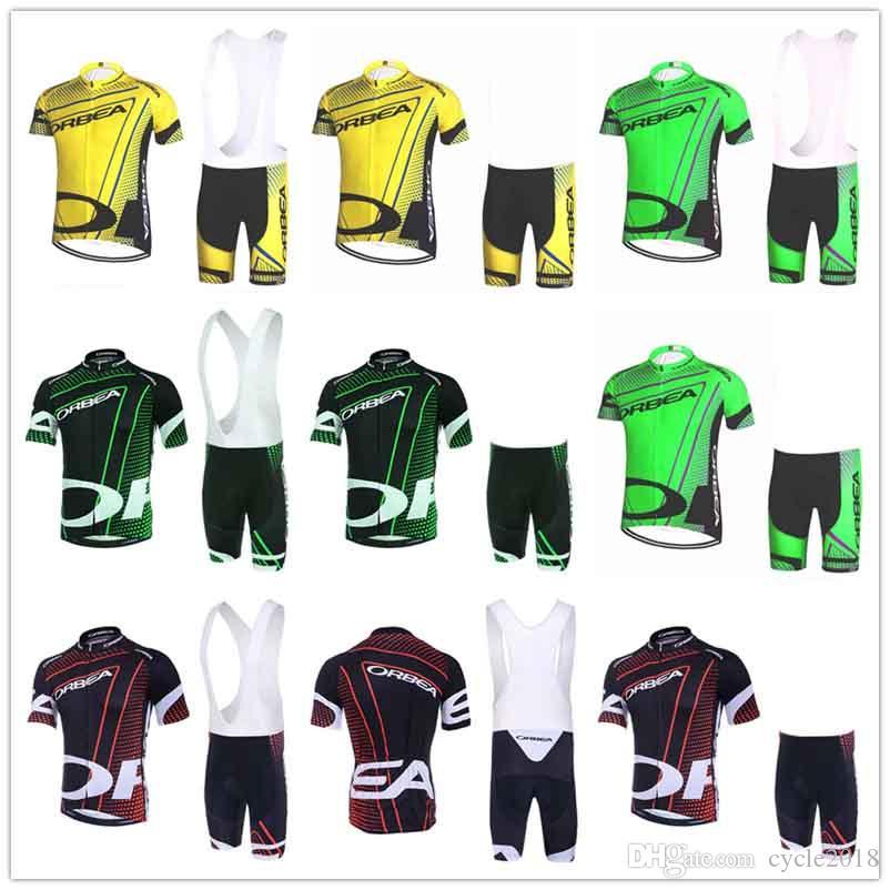 on sale d27ae 640a4 Maglie ciclismo ORBEA 2018 Set maniche corte Traspirante Anti UV  Abbigliamento da bici Abbigliamento sportivo da bicicletta Quick Dry 9D pad  in gel ...