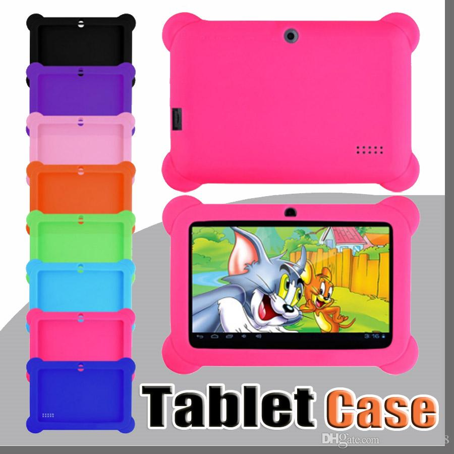 05cb78fc44 Compre Anti Polvo Para Niños Niños Funda De Gel De Silicona Suave Para 7 7  Pulgadas Q88 Q8 A33 A23 Android Tablet Pc MID Envío Gratis A $1.61 Del ...