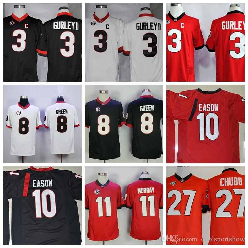 2018 Georgia Bulldogs College Football Jerseys 34 Herchel Walker 11 Aaron  Murray 8 Aj Green 10 Jacob Eason 27 Nick Chubb 3 Todd Gurley Ii Jersey From  ...