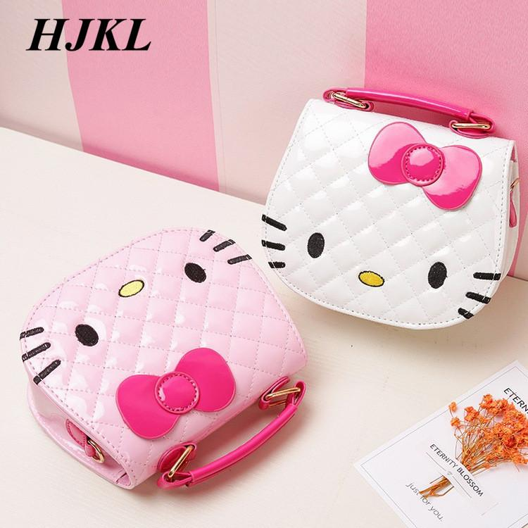 635027a044 HJKL New Cute Mini Bag Children Hello Kitty Handbag For Women ...