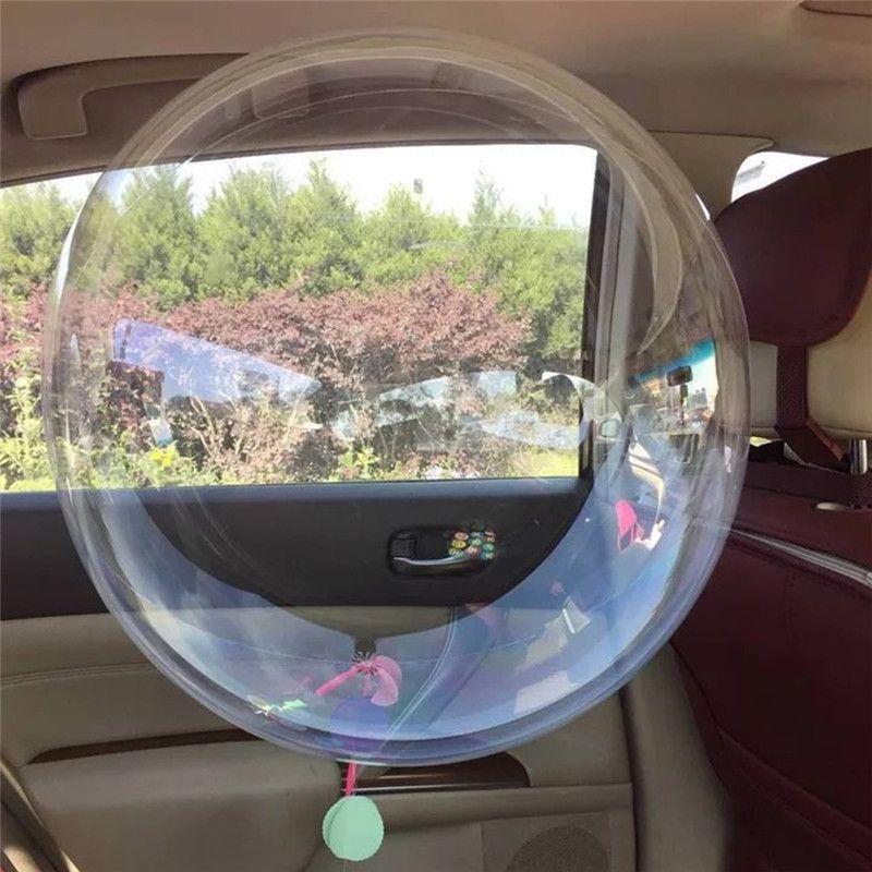 Sin bígaros transparente globos de PVC 18/10/24 pulgadas burbuja transparente helio fiesta de cumpleaños boda Globos de helio decoración Balaos Kid juguetes de la bola
