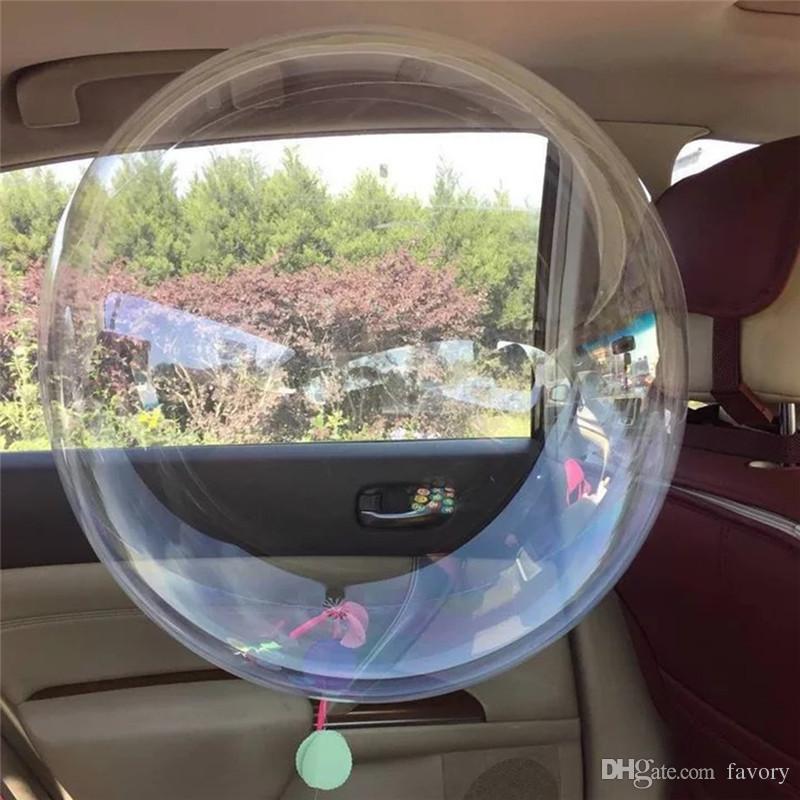 Non Winkles transparent PVC Ballons 10/18/24 pouces clair bullé hélium Globos mariage de fête d'anniversaire Décor hélium Balaos Kid Toys balle