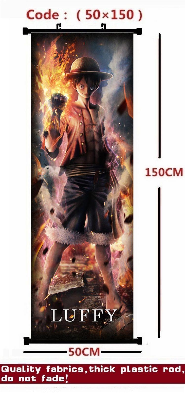 Anime / ONE PIECE Monkey D. Ruffy / Portgas.D.Ace / Sabo Verbrennung Ausgabe Schöne hängende Bild / Plakat / Stoffmalerei / Wand