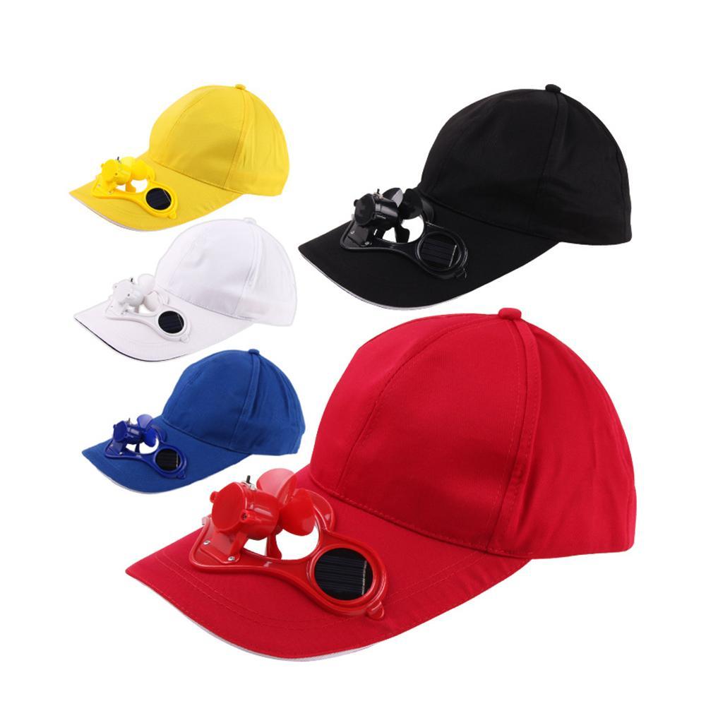 60053e115f1 Summer Sport Outdoor Hat Cap with Solar Sun Power Cool Fan Outdoor ...