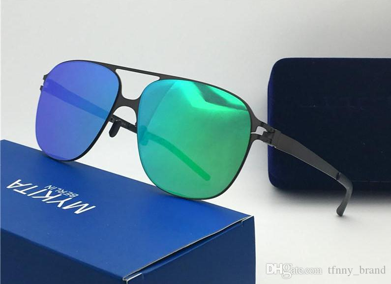 a32264f1d0 TOP QUALITY Luxury Mykita Sunglasses Ultralight Frame Without Screws  SCHORSCH Pilot Frame Flap Top Men Brand Designer Sunglasses John Lennon  Sunglasses ...