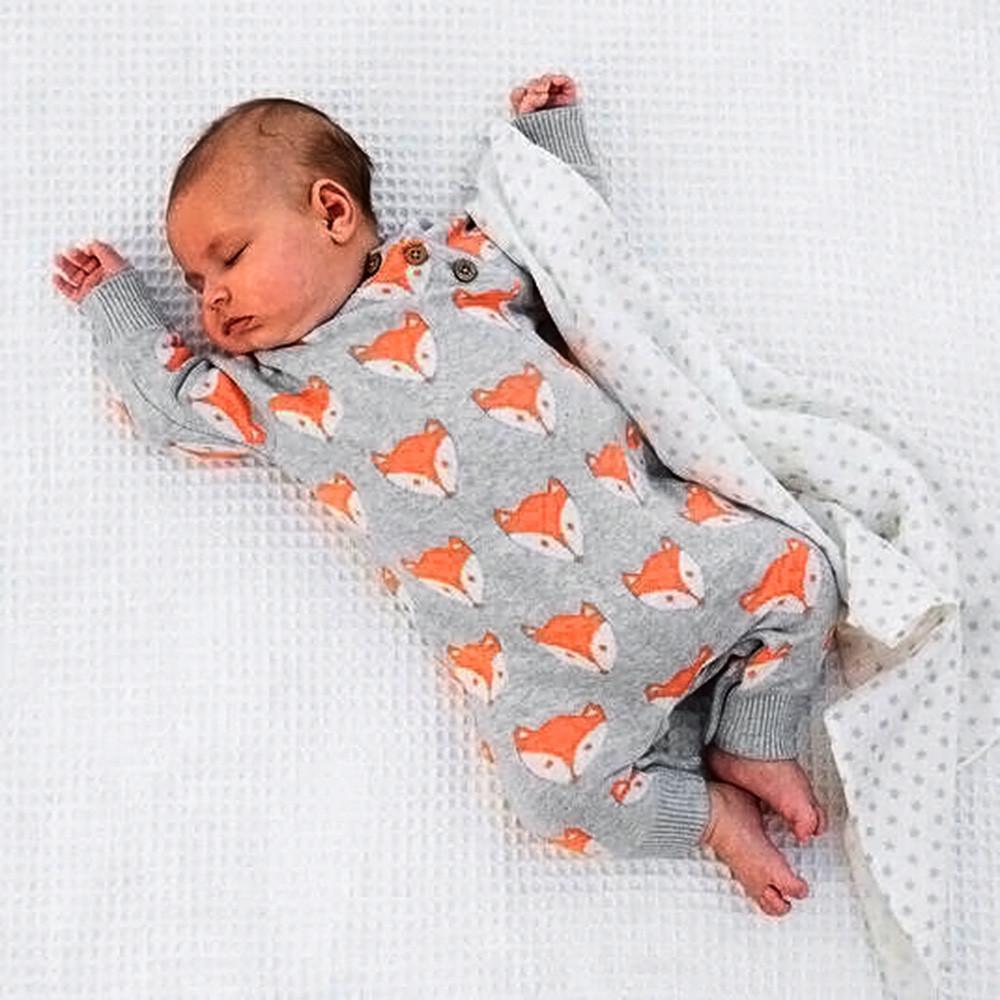 89af510f3 Compre Lindo Recién Nacido Bebé Niña Niño Fox Estampado Cálido Mameluco Mono  Ropa Algodón Otoño Invierno Mamelucos Para Bebé 2017 Nuevas Llegadas A   45.0 ...
