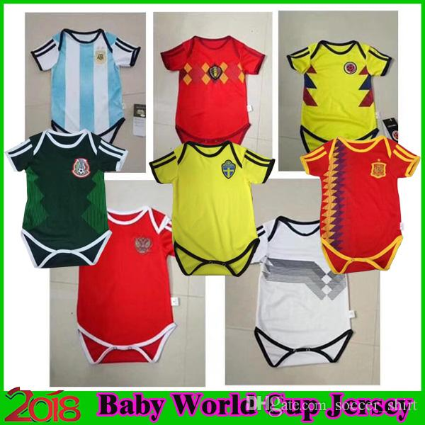89f7d0e6d 2019 Baby Soccer Jerseys 2018 World Cup Shirts Argentina Spain Mexico  Colombia Belgium Sweden Russia Home Kids 2019 Baby Football Shirt Uniform  From ...
