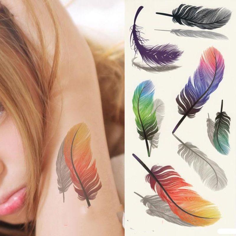 Großhandel Tattoos Wing Bunte 3d Auf Body Art Brust Körper Tattoo