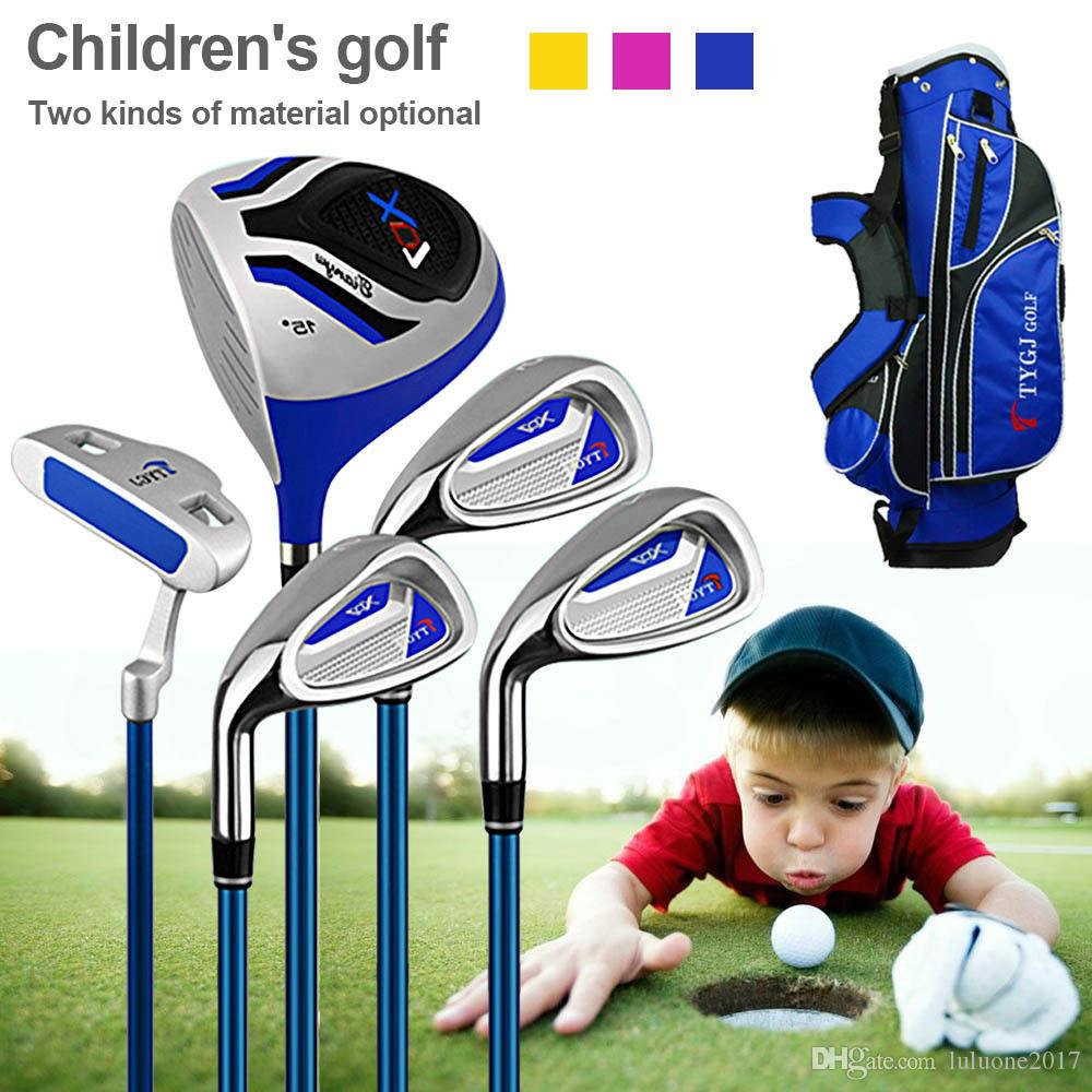 cd6622d39def 2019 TTYGJ Kids Junior Premium Golf Tour Set Sports Driver Putter Bag  Graphite Carbon Shaft Children Golf Clubs 3 12 Years Old From Luluone2017,  ...