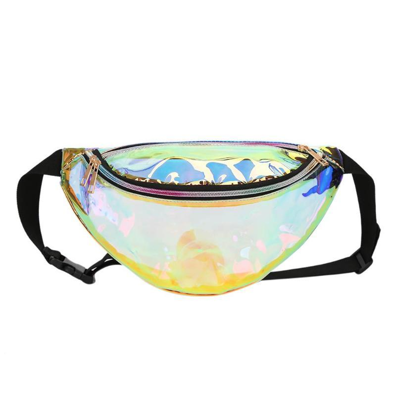 1b8e15c54a32 Rainbow Chic Holographic Neon Fanny Pack Laser Hologram Bum Bag Hip Women  Travel Festival Metallic Shiny Waist Bags Party Beach